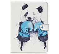 For Apple iPad Pro 9.7'' iPad Air 2 iPad Air Case Cover Kungfu Panda Pattern Painted Card Stent Wallet PU Skin Material Flat Protective Shell