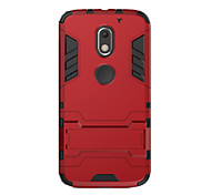 cheap -Case For Motorola Shockproof with Stand Back Cover Solid Color Hard PC for Moto X Play Moto G4 Plus MOTO G4 Moto G3