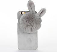 cheap -For DIY Case Rabbit Ears Plush Back Cover Case for Apple iPhone 7 Plus iPhone 7 iPhone 6s Plus iPhone 6 Plus iPhone 6s iPhone 6