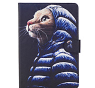 For Apple iPad Mini 4 3 2 1 Case Cover Cute Cat Pattern Painted Card Stent Wallet PU Skin Material Flat Protective Shell