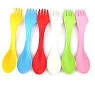 Недорогие -Пластик Столовая вилка Ложка для сахара Ложки Вилки Ножи
