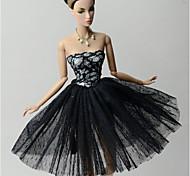 Недорогие -Принцесса Платья Для Кукла Барби Кружево органза Платье Для Девичий игрушки куклы