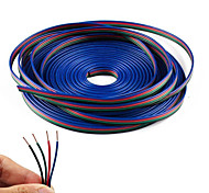 4 Color 5m RGB  Extension Cable Line for LED Strip RGB 5050 3528 Cord 4pin
