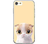 Yellow Cat For Ultra Thin Pattern Back Cover Case Soft TPU for iPhone 7 Plus 7 6s Plus 6 Plus 6s 6 SE 5s 5