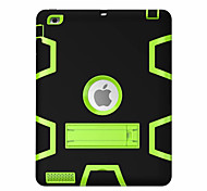 cheap -For iPad (2017) Kids Safe Armor Shockproof Heavy Duty Silicon PC Stand Back Case Cover Pro 9.7 Air 2 iPad 2/3/4 mini 123 mini4