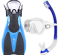 Snorkel Set Snorkeling Packages Snorkels Diving Fins Snorkel Mask Swim Mask Goggle Dry Top Short Blade Diving / SnorkelingGlass Rubber