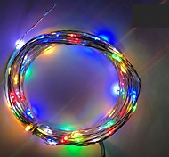 cheap -4.5V 2M 20Led 3 AA Battery Powered Decorative LED Silver Wire Fairy String Lights for Holiday Wedding and Parties