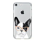 cheap -For Transparent Pattern Case Back Cover Case Cartoon Lovely Dog Soft TPU for IPhone 7 7Plus iPhone 6s 6 Plus iPhone 6s 6 iPhone 5s 5 5E 5C 4 4s
