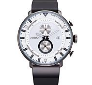 Мужской Спортивные часы Модные часы Японский кварц силиконовый Группа Черный