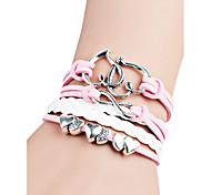 Women's Charm Bracelet Friendship Fashion Bohemian Handmade Initial Jewelry Alloy Alphabet Shape Heart Cut Infinity Jewelry For Birthday