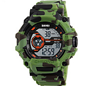 abordables -SKMEI Hombre Reloj Deportivo Reloj Militar Reloj de Moda Reloj de Pulsera Reloj digital Japonés Digital LED Calendario Cronógrafo