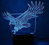 Christmas Eagle Turtles Touch Dimming 3D LED Night Light 7Colorful Decoration Atmosphere Lamp Novelty Lighting Christmas Light