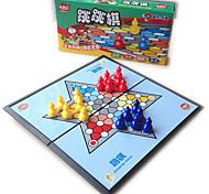 Недорогие -Настольные игры Шахматы Игрушки Игрушки Складной Квадратный Игрушки Куски Не указано Детские Подарок