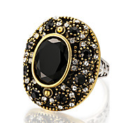 cheap -Women's Resin Alloy Ring Statement Ring - Round Geometric Personalized Luxury Unique Design Vintage Statement Euramerican Fashion Black