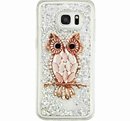 For Samsung Galaxy S7 edge S7 Flowing Liquid Pattern Case Back Cover Case Owl Soft TPU for S6 edge S6 S5