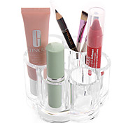cheap -Acrylic Transparent Portable Flower Shaped Cosmetics Makeup Storage Stand Makeup Brush Pot Cosmetic Organizer for Lipstick Eyeliner Pen Nail Polish