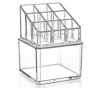 Недорогие -Коробка с косметикой Others Хранение косметики Однотонный Квадрат Акрил
