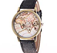 Недорогие -Муж. Модные часы Китайский Кварцевый Материал Группа World Map Pattern Карта для путешествий Разноцветный