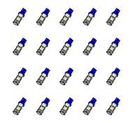 20Pcs T10 9*5050 SMD LED Car Light Bulb Blue Light DC12V