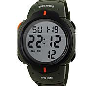 Men's Sport Watch Dress Watch Fashion Watch Digital Watch Quartz Digital Calendar Large Dial Genuine Leather Band Vintage Casual