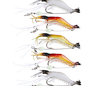 cheap -5 pcs Soft Bait Fishing Lures Fishing Hooks Craws / Shrimp Jerkbaits Soft Bait Soft Plastic Silicon Sea Fishing Fly Fishing Bait Casting