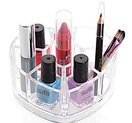 cheap -Textile Plastic Oval Plastic Travel Transparent Brush Holder Home Organization, 1pc Plastic Desktop Organizers Makeups Storage Closet
