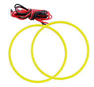 2pcs COB Angel Eyes 80MM Auto Halo Ring White Color Light Car Motorcycle With Lampshades DC12V
