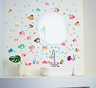 cheap -Animals Fashion Cartoon Wall Stickers Plane Wall Stickers Decorative Wall Stickers, Paper Home Decoration Wall Decal Wall Glass/Bathroom