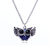 Women's Statement Necklaces Wings / Feather Feather Euramerican Rose Red Brown Rainbow Purple Dark Blue Jewelry ForWedding Party Special