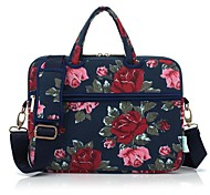 cheap -13.3 14.1 15.6 inch Peony Pattern Laptop Shoulder Bag with Strap Hand Bag for Macbook/Surface/Dell/HP/Samsung/Sony etc