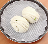 1Pcs   22Cm Silicone Steamer Non-Stick Pad Round Dumplings Mat Steamed Buns Baking Pastry Dim Sum Mesh Home Kitchen Cooking Tools