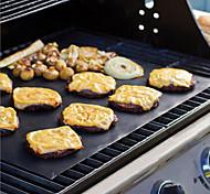 cheap -3Pcs Extra Thick Heat Resistant Teflon BBQ Grill Mat Reusable Non-Stick Barbecue Grilling Sheet Liner BBQ  Mat