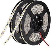 cheap -Flexible LED Light Strips 600 LEDs Warm White White Green Yellow Blue Red Cuttable Self-adhesive Suitable for Vehicles Linkable DC 12V