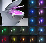 YWXLight® IP65 16 Colors Motion Activated Toilet Night light Fit Any Toilet-Water-resistant Bathroom Night Light Easy Clean -For Midnight Convenience