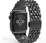 Banda di orologio per orologio da melo inarcamento a farfalla 38 mm di acciaio inossidabile da 42 mm in acciaio inossidabile