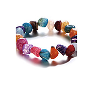 cheap -Women's Gold Plated Strand Bracelet - Rainbow Natural Fashion Round Rainbow Bracelet For Gift Sports