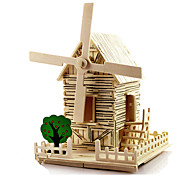 3D Puzzles Windmill Toy Cars Model Building Kits Toys Windmill Famous buildings House Architecture DIY Unisex Pieces
