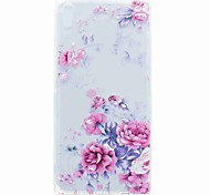 cheap -For Sony XA Ultra X Compact Case Cover Translucent Pattern Back Cover Case Flower Soft TPU for Sony Xperia C6 XA E5 X Perfor