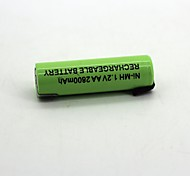 1Pcs  Ni-Mh Battery  1.2V   Aa2800Mah  Rechargeable Battery High Quality