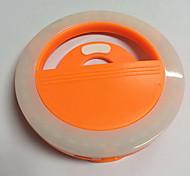 Mobile phone light led self-timer lamp USB charging beauty flash night light built-in lithium battery Orange
