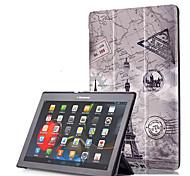 Недорогие -Кейс для Назначение Lenovo Чехол планшетный случаи Твердый Кожа PU для