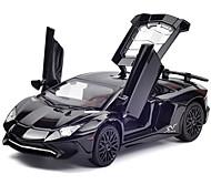 Недорогие -Игрушечные машинки Модель авто Гоночная машинка Игрушки Музыка и свет Игрушки Металл Куски Не указано Подарок