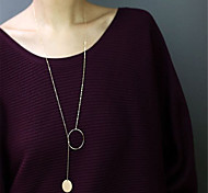 cheap -Women's Pendant Necklace - Personalized Dangling Style Pendant Euramerican Fashion Simple Style Others Gold Silver Necklace For