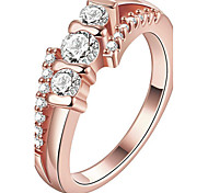 Women's Ring Engagement Ring Crystal Euramerican Fashion Personalized Luxury Crystal Copper Gold Plated Rose Gold Plated Irregular Jewelry