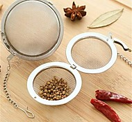 1Pcs  Stainless Steel Tea Infuser Strainer Mesh Filter Spoon Hooking Chain