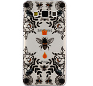 For Samsung Galaxy A3 A5 (2017) Case Cover Bees And Flowers Pattern Drop Glue Varnish High Quality TPU Material Phone Case A3 A5