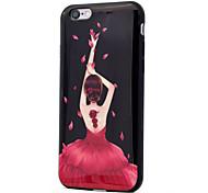 Pour le processus imd girl pattern tpu soft phone case pour iphone 7 plus 7 6s plus 6s 6 se 5