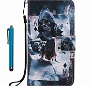 For Samsung Galaxy A3 A5 2017 Card Holder Wallet with Stand Flip Pattern Case Full Body Case Skull Hard PU Leather A3 A5 2016