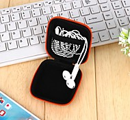 cheap -1Pcs   Headphones Earphone Cable Earbuds Storage Hard Case Carrying Pouch Bag Sd Card Hold Box Color Random