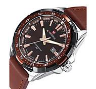 NAVIFORCE Men's Wrist watch Casual Watch Sport Watch Fashion Watch Quartz Calendar / date / day PU Band Luxury Casual Cool Black Brown